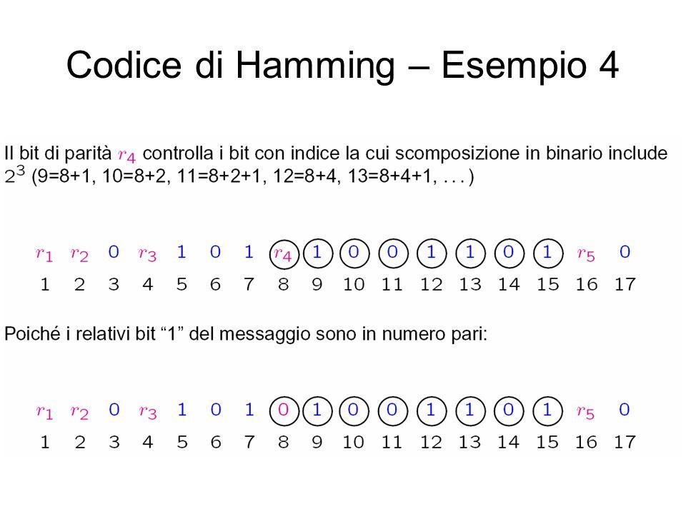 Codice di Hamming – Esempio 4