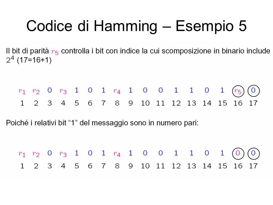 Codice di Hamming – Esempio 5