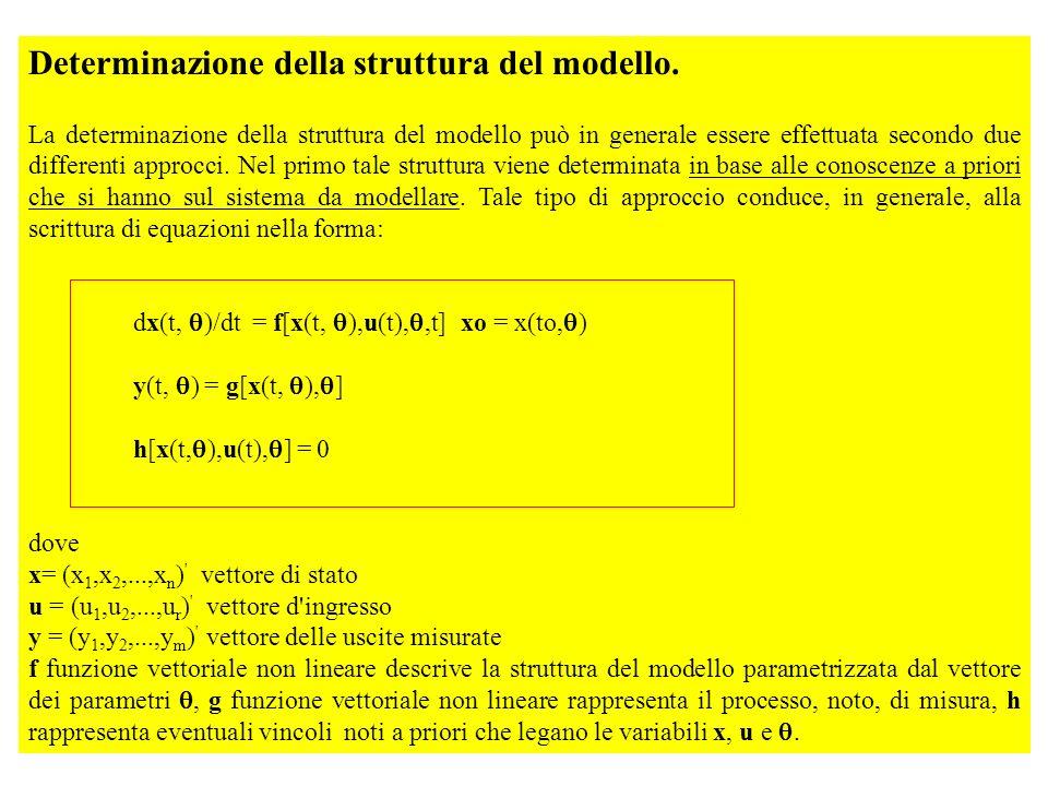 Determinazione della struttura del modello. La determinazione della struttura del modello può in generale essere effettuata secondo due differenti app