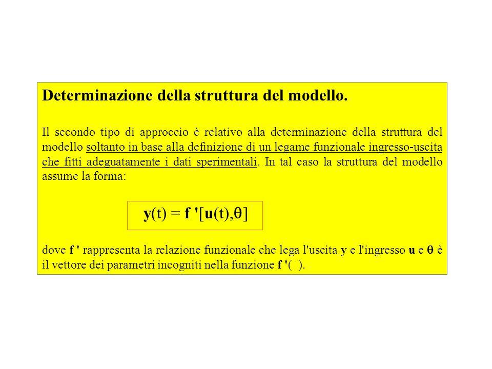 Determinazione della struttura del modello. Il secondo tipo di approccio è relativo alla determinazione della struttura del modello soltanto in base a