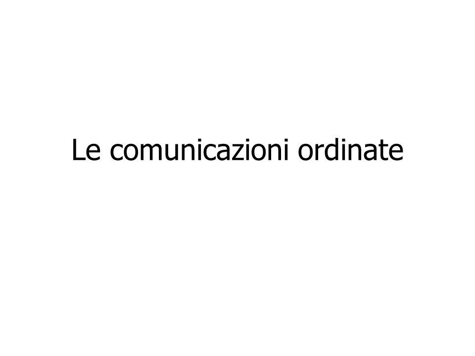 Le comunicazioni ordinate