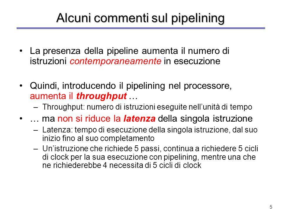 4 Confronto tra ciclo singolo e pipeline Ciclo singolo Pipeline Esempio di tempi di esecuzione delle diverse classi di istruzione IstruzioneIFIDEXMEMW