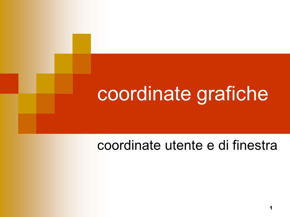 1 coordinate grafiche coordinate utente e di finestra