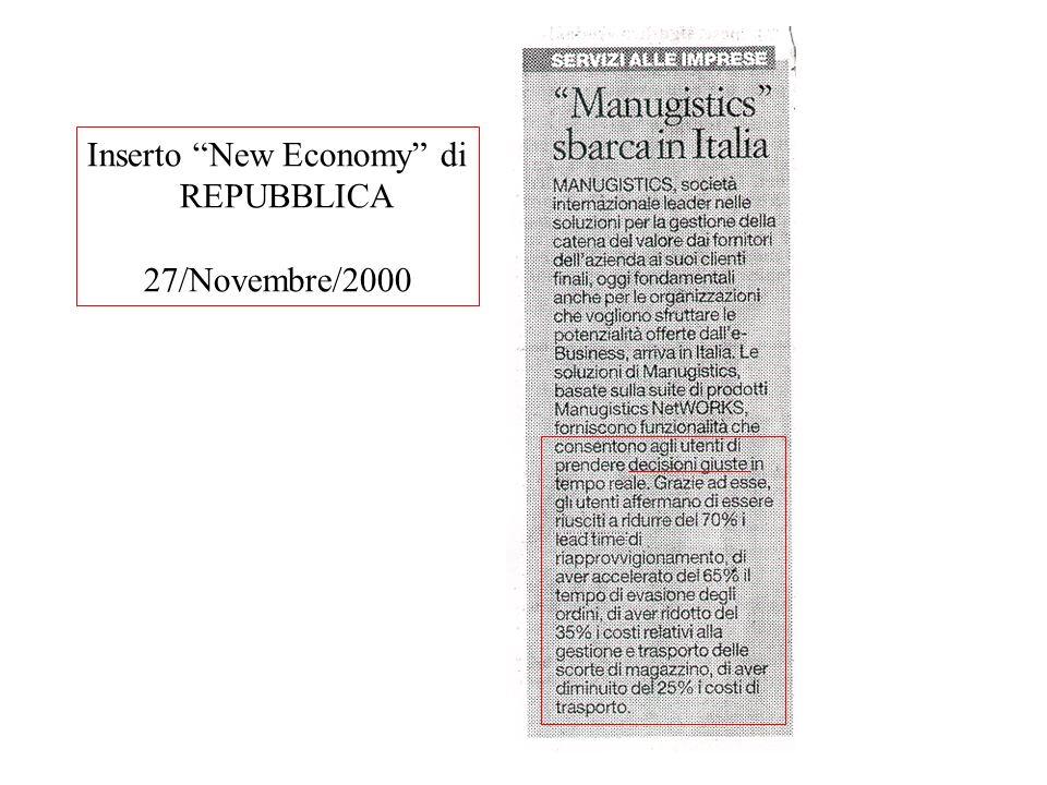 Inserto New Economy di REPUBBLICA 27/Novembre/2000