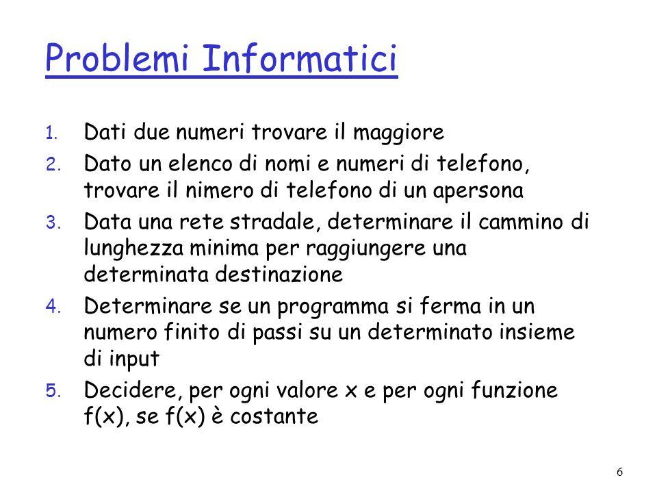 7 Problemi Informatici, cont.