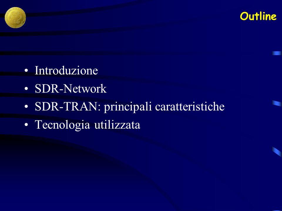 Introduzione SDR-Network SDR-TRAN: principali caratteristiche Tecnologia utilizzata Outline