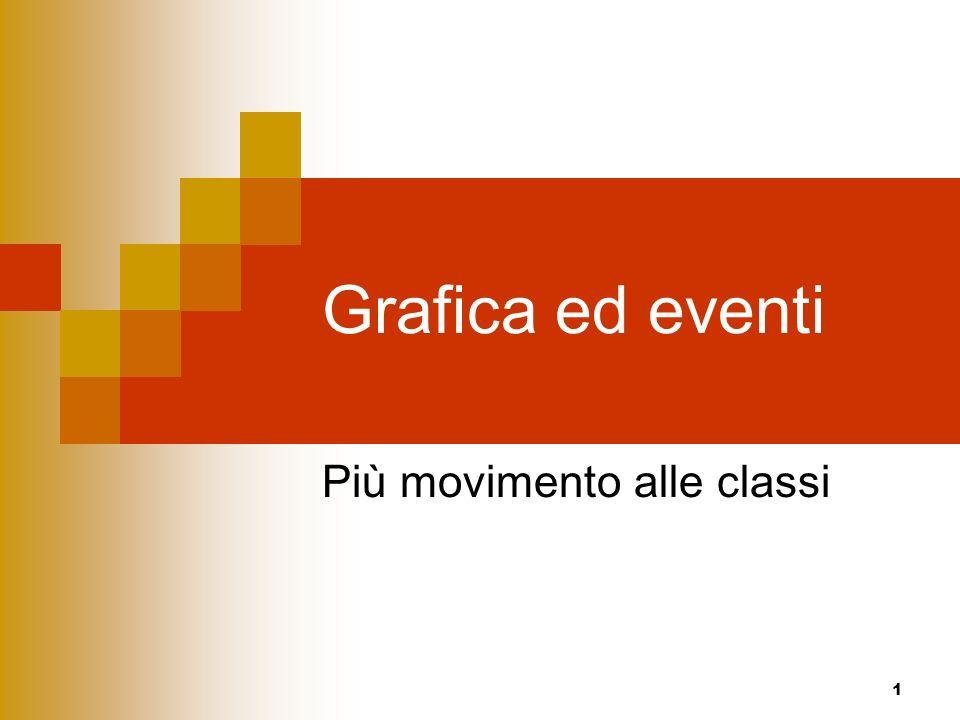 1 Grafica ed eventi Più movimento alle classi
