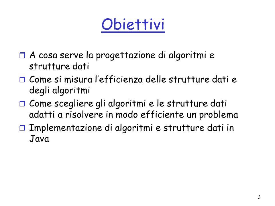 4 Argomenti del corso r Introduzione: efficienza e sua misura.