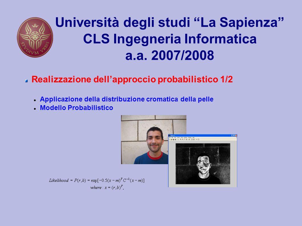 Università degli studi La Sapienza CLS Ingegneria Informatica a.a.
