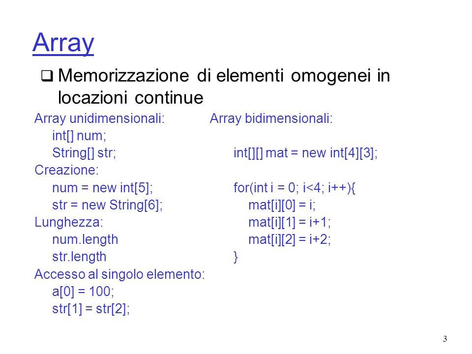 4 Tipo di dato Lista Insieme di elementi tra i quali è definito un ordinamento totale.