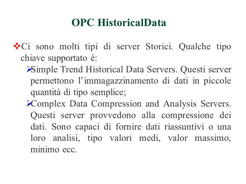 Ci sono molti tipi di server Storici.