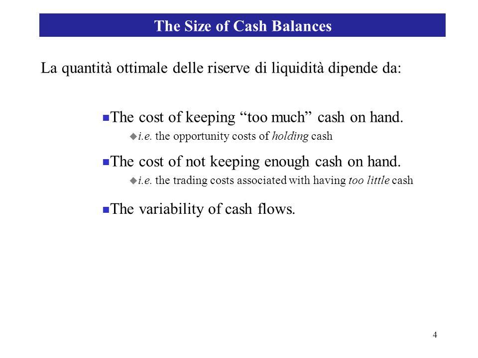 15 Finanza aziendale internazionale La gestione della tesoreria plurivalutaria: liquidità precauzionale Teoria del portafoglio e gestione della liquidità
