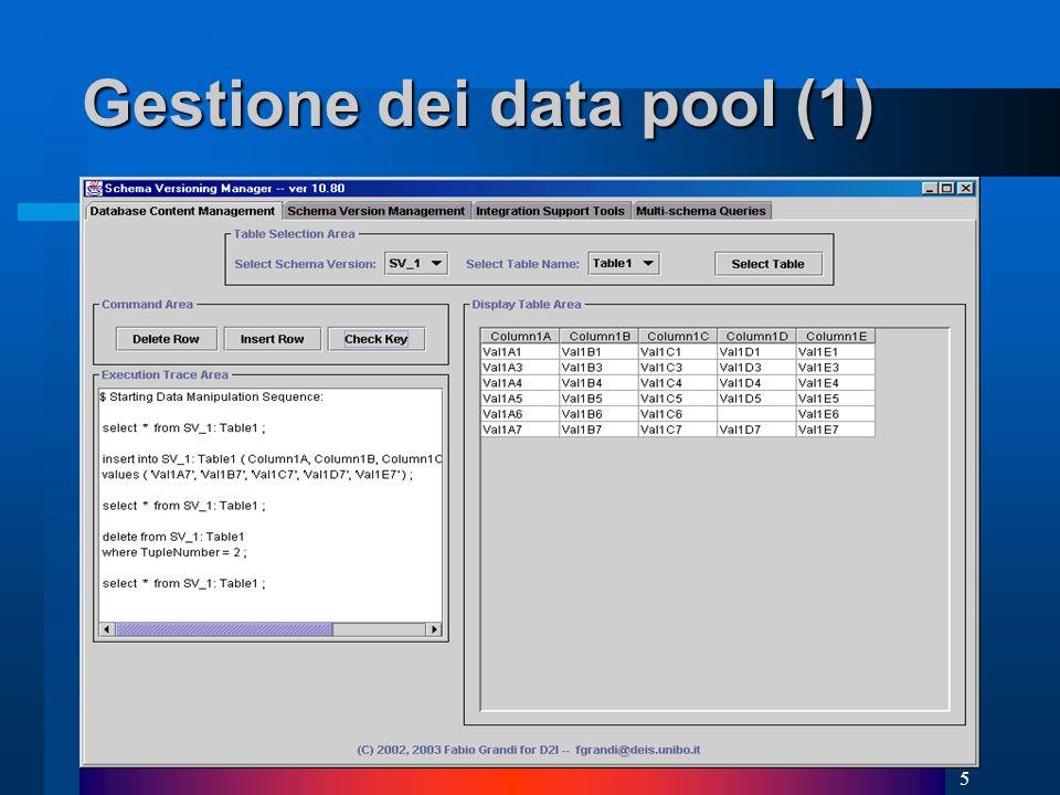5 Gestione dei data pool (1)