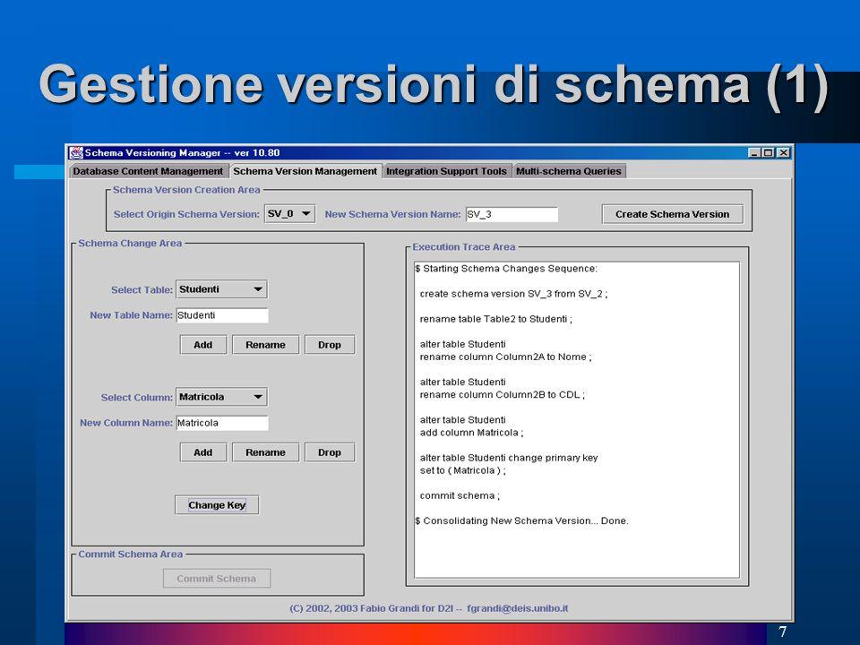 7 Gestione versioni di schema (1)