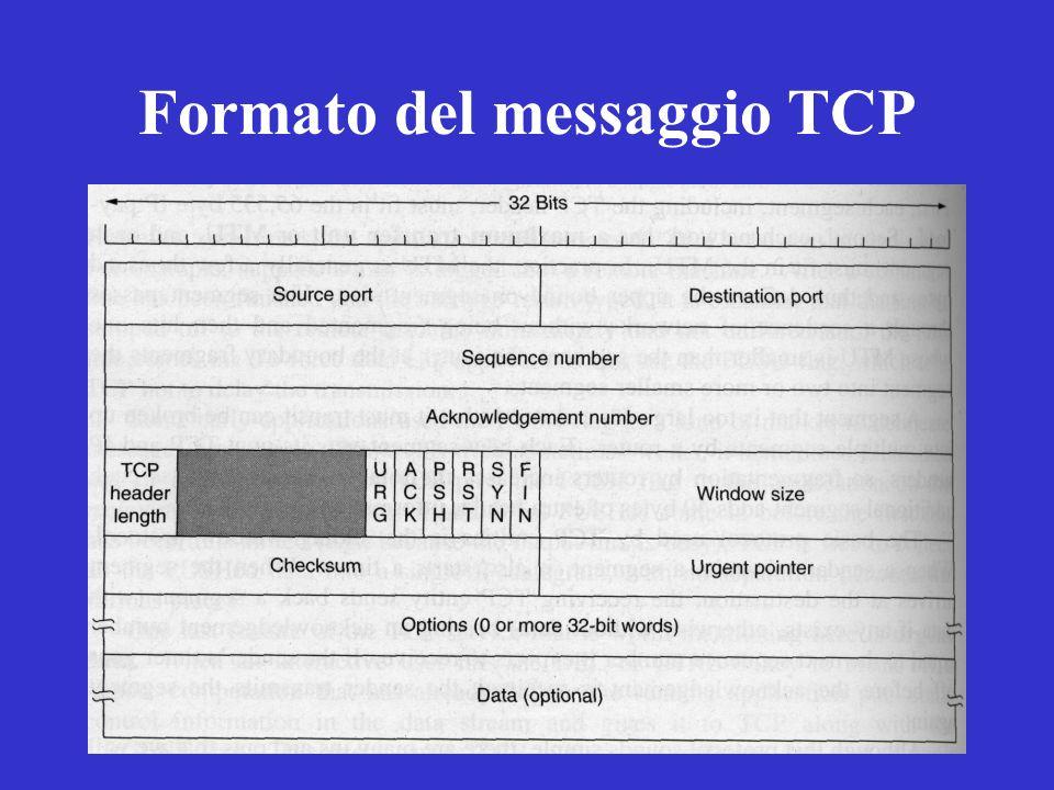 Formato del messaggio TCP