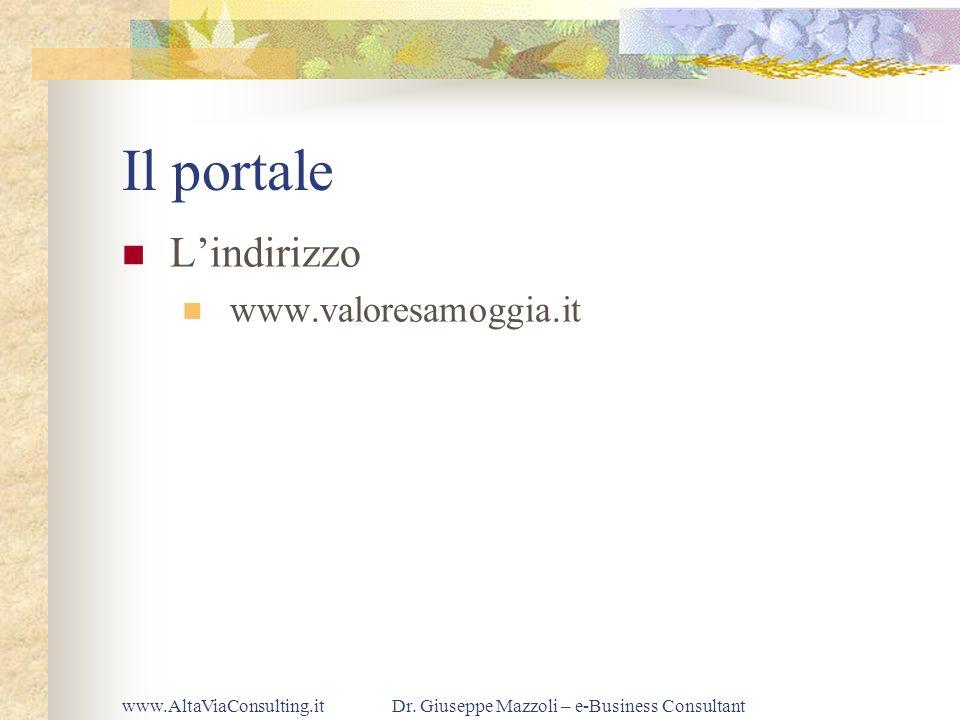 www.AltaViaConsulting.itDr. Giuseppe Mazzoli – e-Business Consultant Il portale