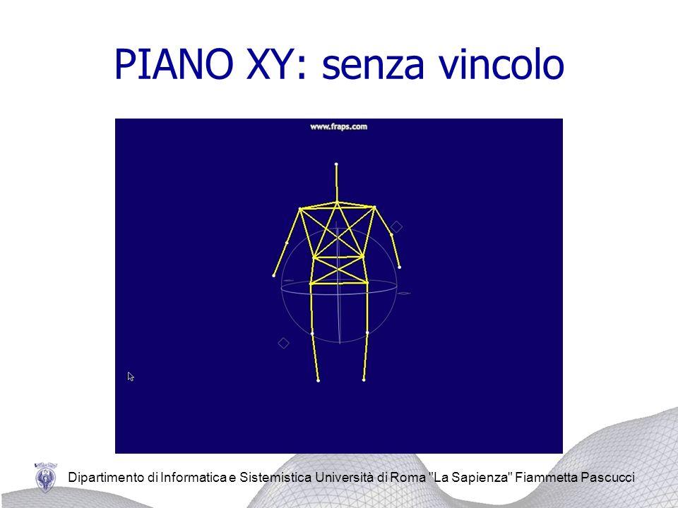 Dipartimento di Informatica e Sistemistica Università di Roma La Sapienza Fiammetta Pascucci PIANO XY: senza vincolo