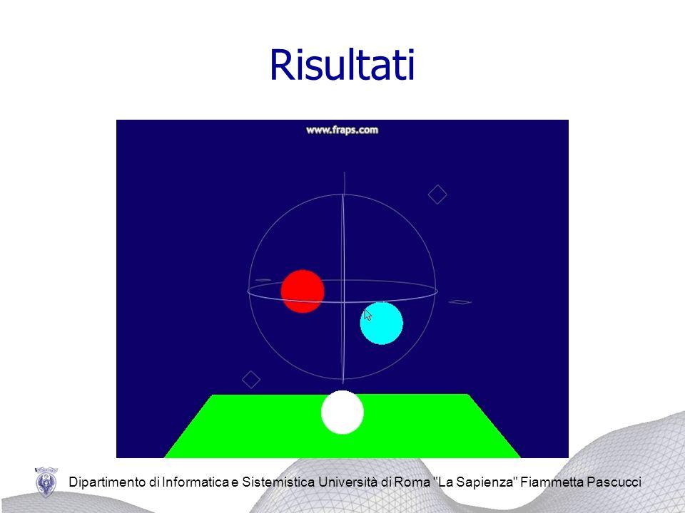 Dipartimento di Informatica e Sistemistica Università di Roma La Sapienza Fiammetta Pascucci Risultati