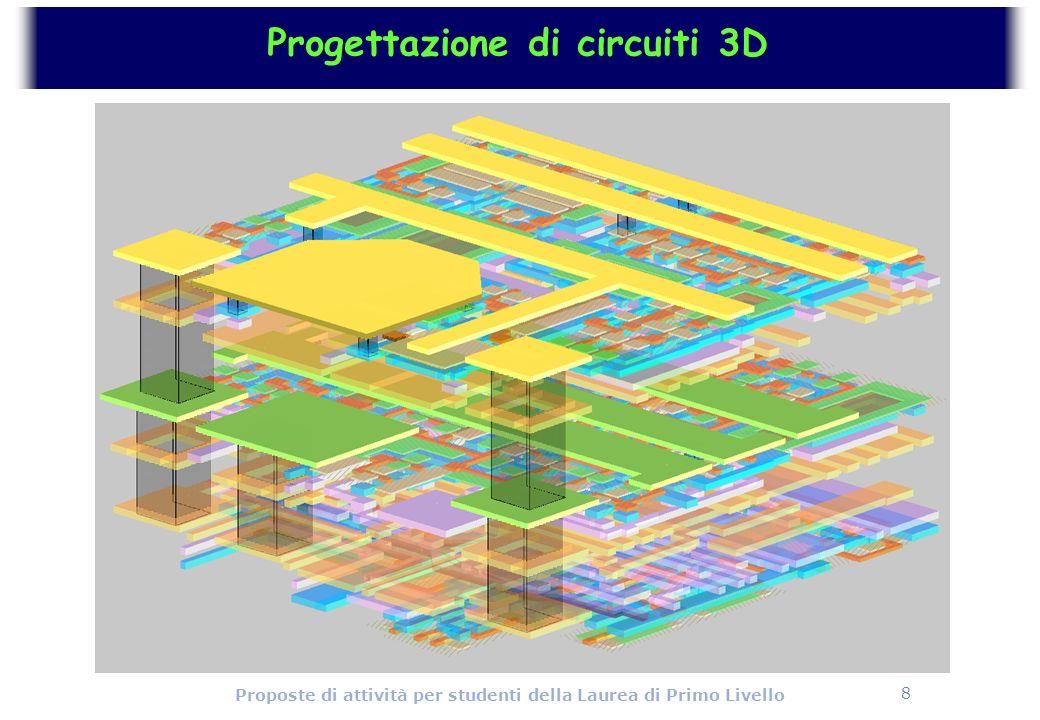 8 Proposte di attività per studenti della Laurea di Primo Livello Progettazione di circuiti 3D