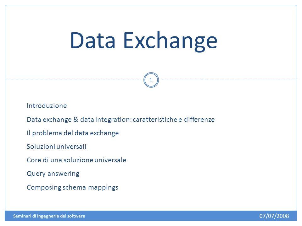 Introduzione: Il problema dellinteroperabilità dei dati 2 I dati possono essere: In posti differenti In formati differenti (relazionale, XML, …).