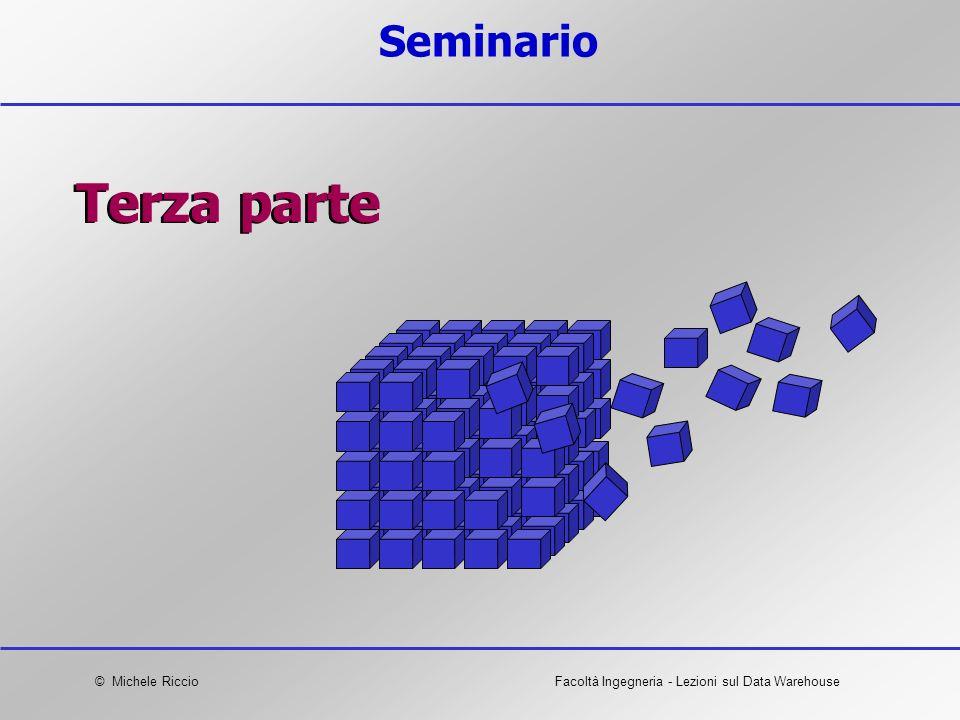 © Michele RiccioFacoltà Ingegneria - Lezioni sul Data Warehouse Seminario Terza parte