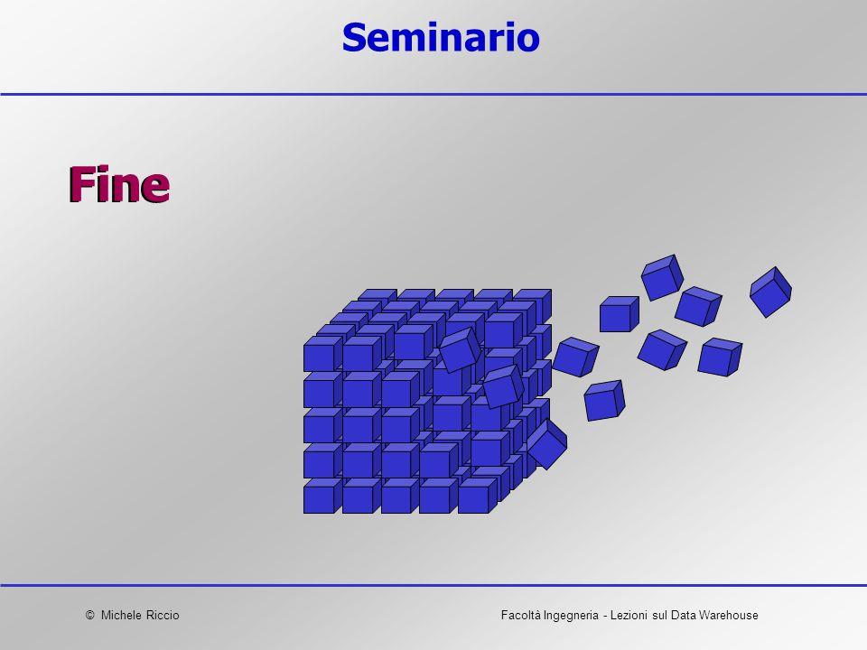 © Michele RiccioFacoltà Ingegneria - Lezioni sul Data Warehouse Seminario Fine