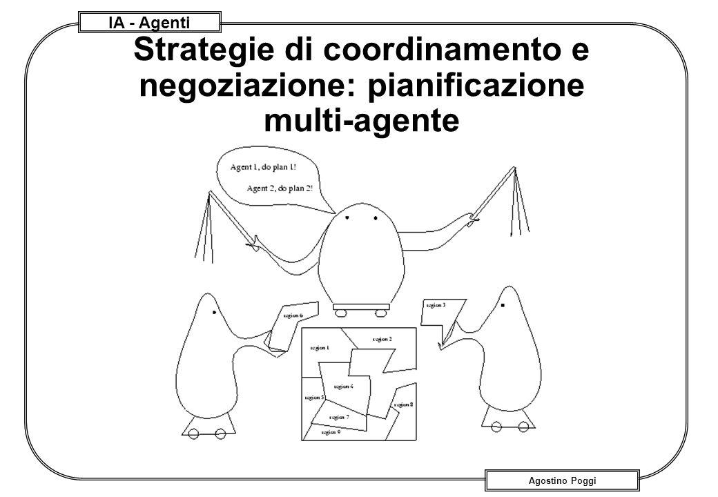 IA - Agenti Agostino Poggi Strategie di coordinamento e negoziazione: pianificazione multi-agente