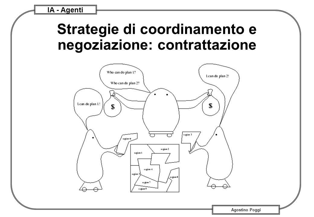 IA - Agenti Agostino Poggi Strategie di coordinamento e negoziazione: contrattazione