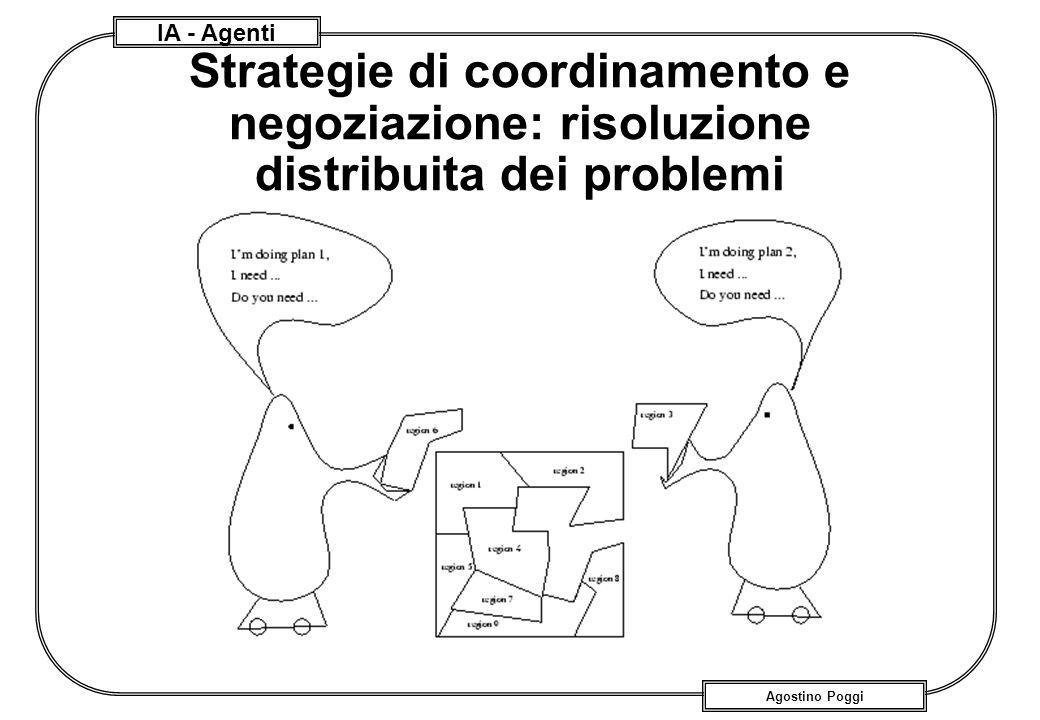 IA - Agenti Agostino Poggi Strategie di coordinamento e negoziazione: risoluzione distribuita dei problemi