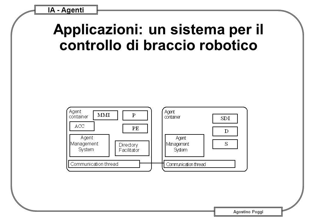 IA - Agenti Agostino Poggi Applicazioni: un sistema per il controllo di braccio robotico