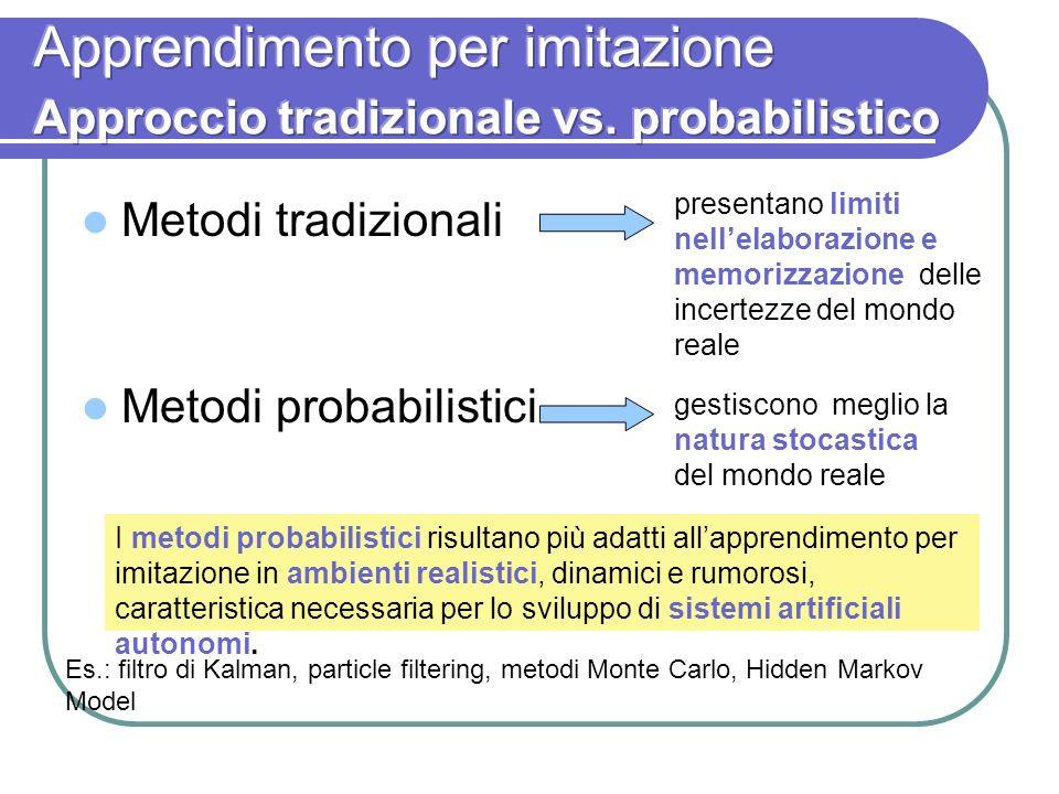 Metodi tradizionali Metodi probabilistici presentano limiti nellelaborazione e memorizzazione delle incertezze del mondo reale I metodi probabilistici