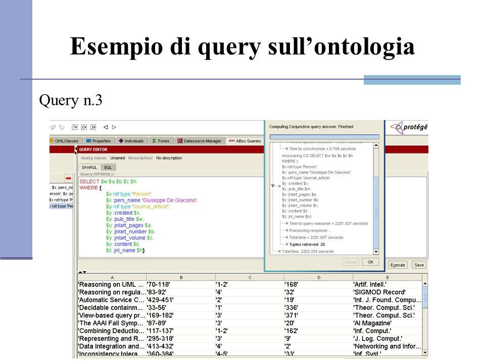 Esempio di query sullontologia Query n.3