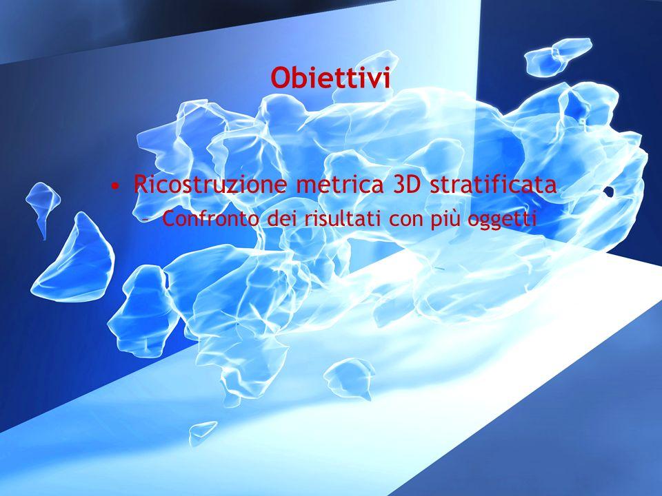 Obiettivi Ricostruzione metrica 3D stratificata –Confronto dei risultati con più oggetti