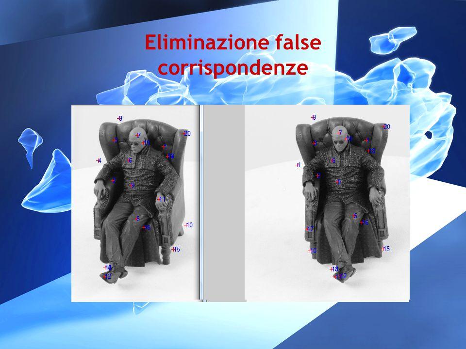 Eliminazione false corrispondenze