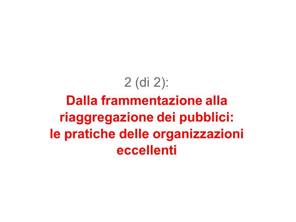 2 (di 2): Dalla frammentazione alla riaggregazione dei pubblici: le pratiche delle organizzazioni eccellenti