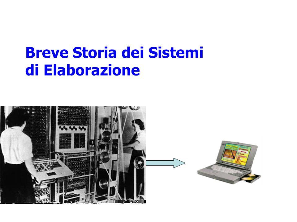Breve Storia dei Sistemi di Elaborazione
