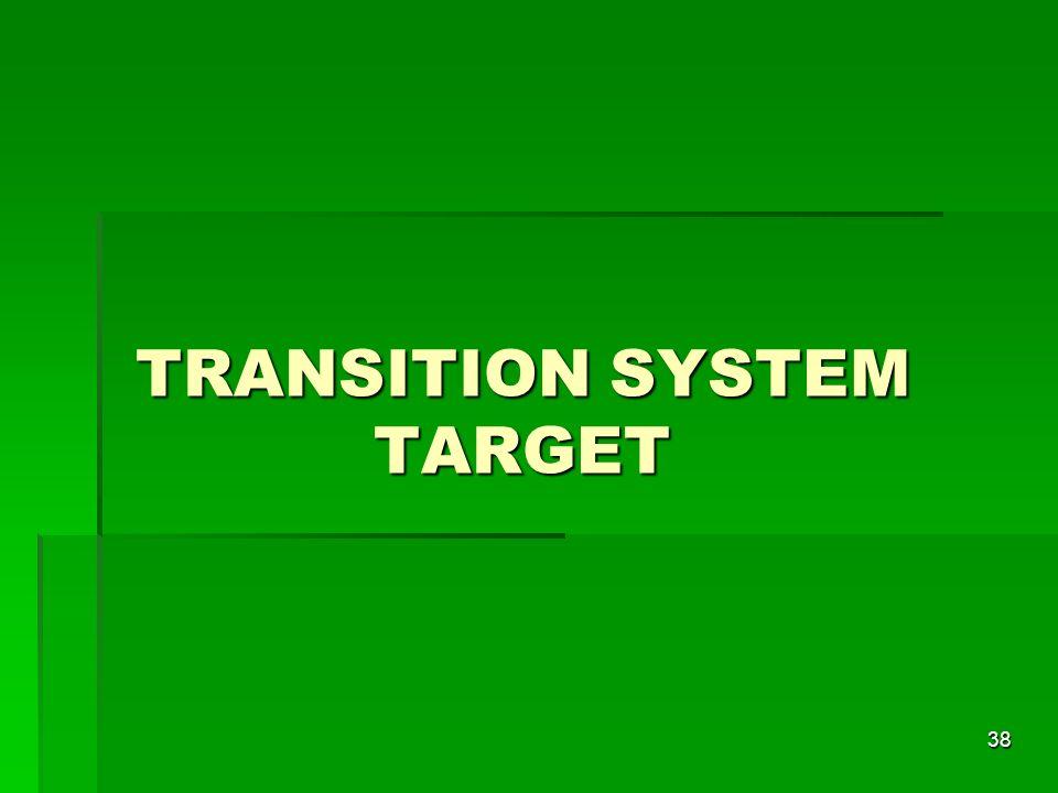 38 TRANSITION SYSTEM TARGET