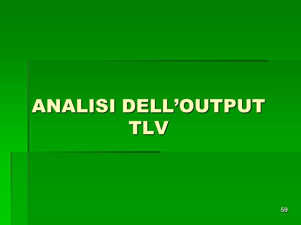 59 ANALISI DELLOUTPUT TLV