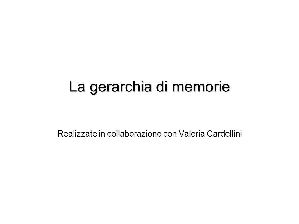 La gerarchia di memorie Realizzate in collaborazione con Valeria Cardellini