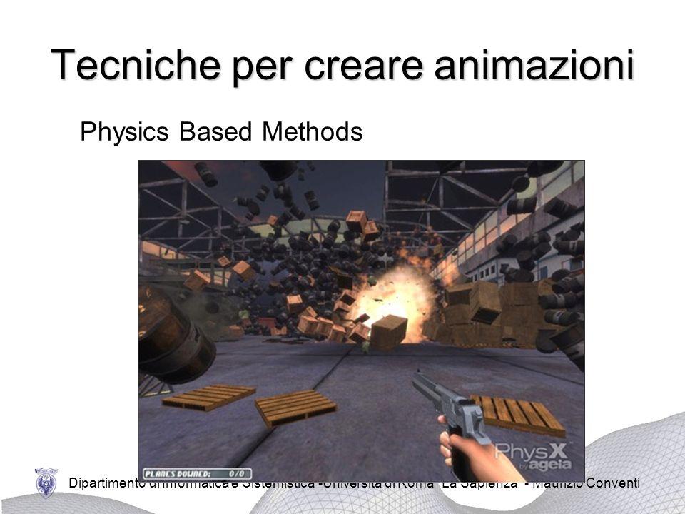 Dipartimento di Informatica e Sistemistica -Università di Roma La Sapienza - Maurizio Conventi Tecniche per creare animazioni Physics Based Methods