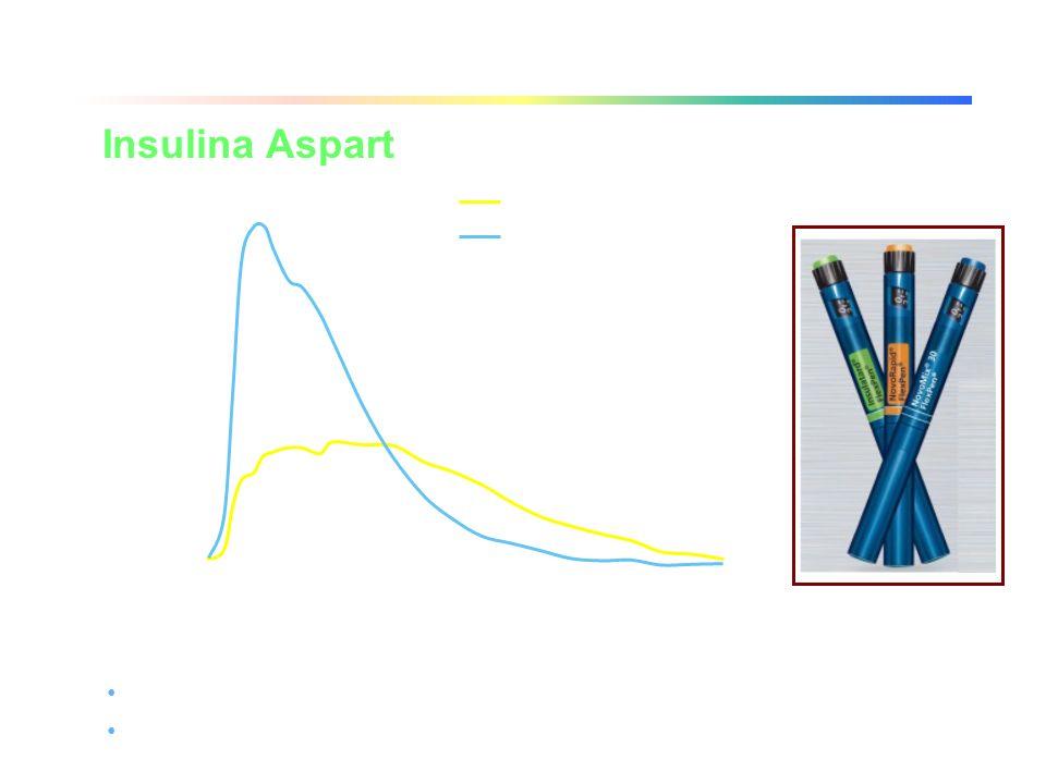 Concentrazione plasmatica doppia in metà tempo rispetto a IR Necessario associare uninsulina ad azione ritardata per il controllo della glicemia nottu