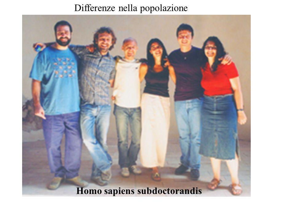 Homo sapiens subdoctorandis Differenze nella popolazione