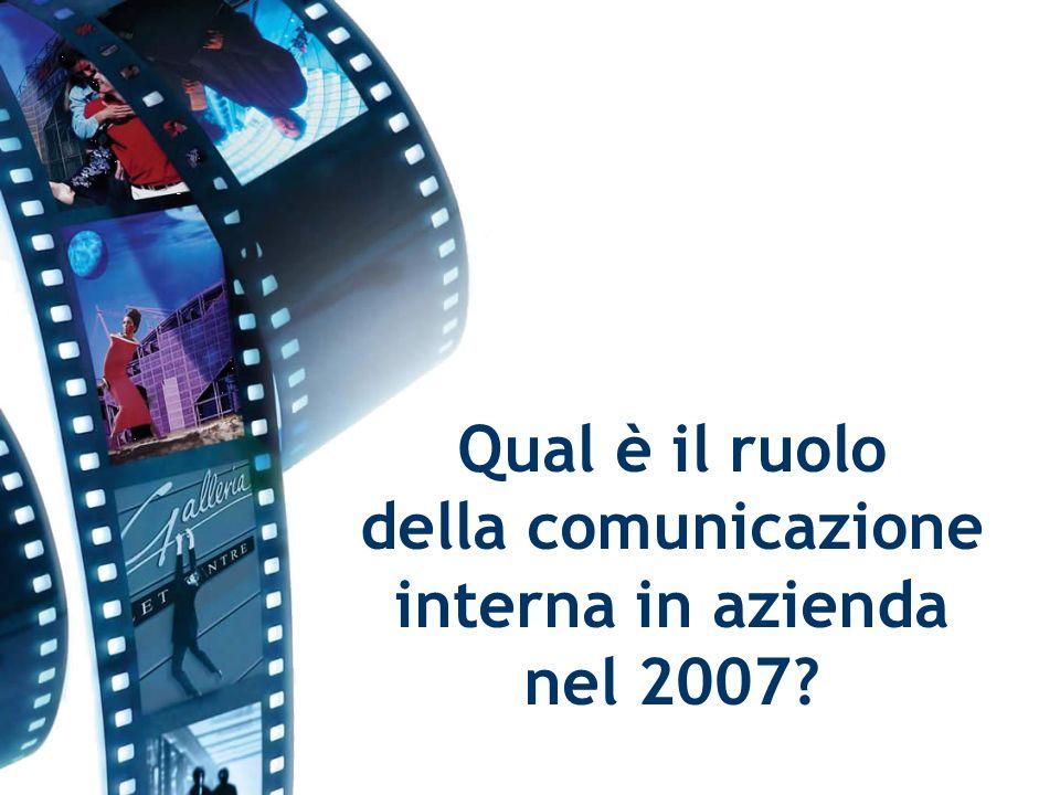 Qual è il ruolo della comunicazione interna in azienda nel 2007?