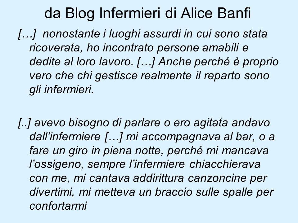 da Blog Infermieri di Alice Banfi […] nonostante i luoghi assurdi in cui sono stata ricoverata, ho incontrato persone amabili e dedite al loro lavoro.