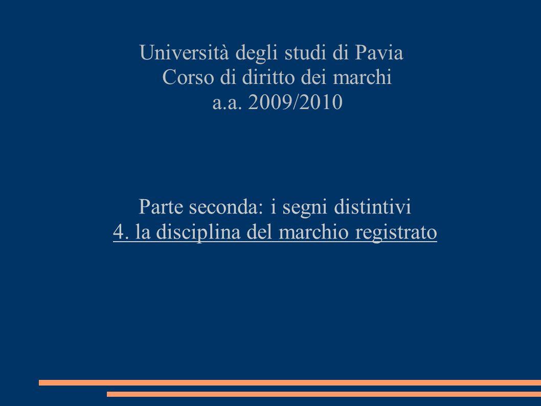 Università degli studi di Pavia Corso di diritto dei marchi a.a.