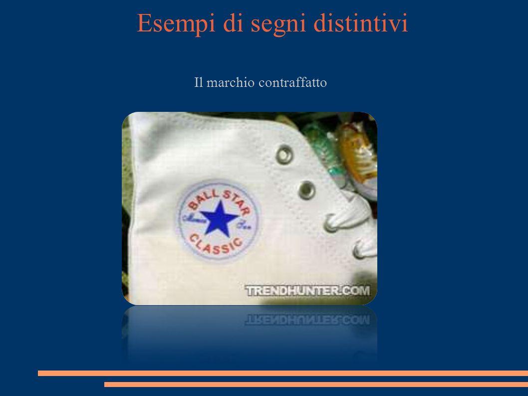 Esempi di segni distintivi Il marchio contraffatto