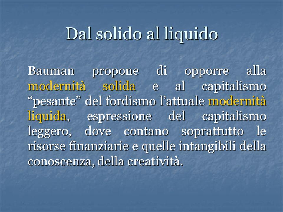 La modernità liquida Bauman pone allinizio di Modernità liquida questa citazione di Valery: Interruzione, incoerenza, sorpresa sono le normali condizi