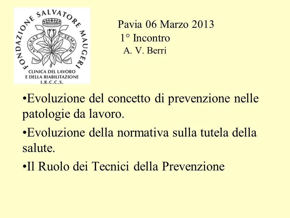 Pavia 06 Marzo 2013 1° Incontro A.V.