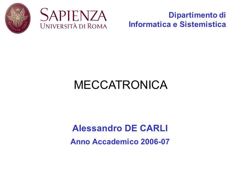 Dipartimento di Informatica e Sistemistica Alessandro DE CARLI Anno Accademico 2006-07 MECCATRONICA