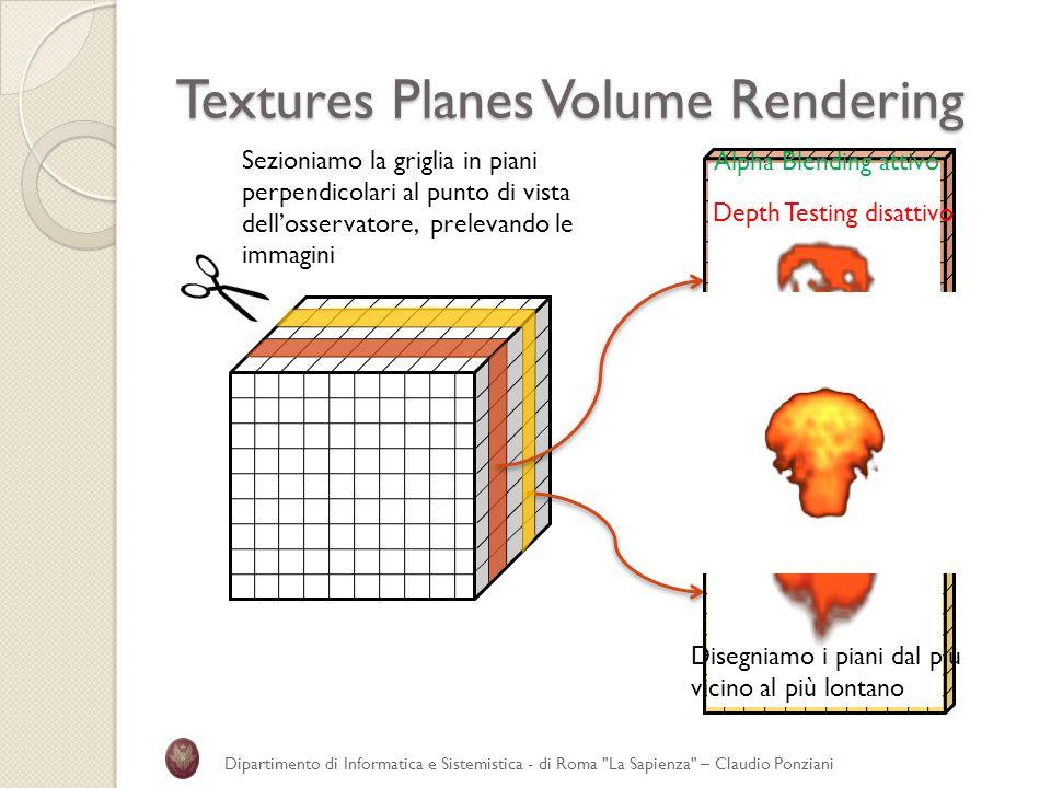 Textures Planes Volume Rendering Dipartimento di Informatica e Sistemistica - di Roma